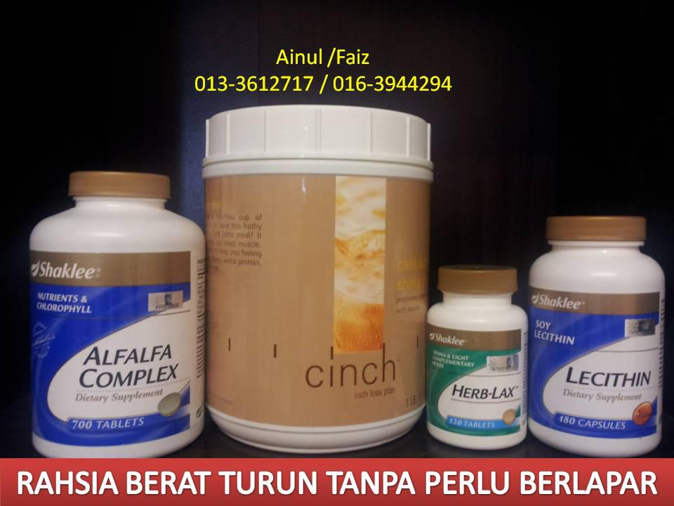 set, kurus, shaklee, cinch, shake, alfalfa, herb-lax, lecithin