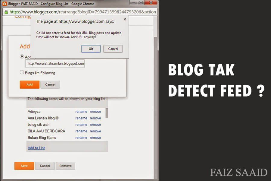 Blog Tak Detect Post Feed ?