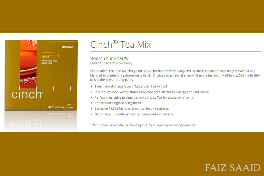 Cinch Tea Shaklee Sedap ?
